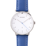 blue leather watch band