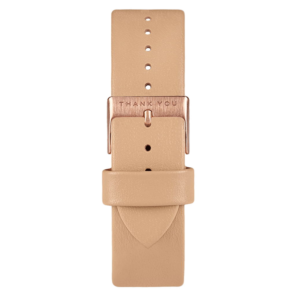 Tan Leather Timepiece Bands