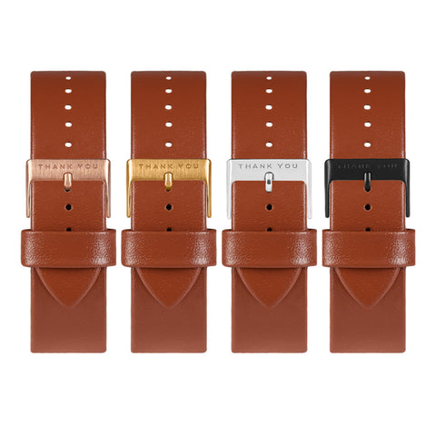 Dark Brown Leather Timepiece Bands