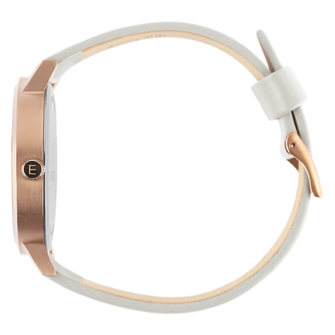 Brushed Rose Gold - White Face