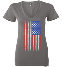 Ladies American Flag w/ 8 Ball Pin Up on Dark Shirts