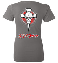 Ladies 8 Ball Skull & Cross w/ 8 Ball Logo