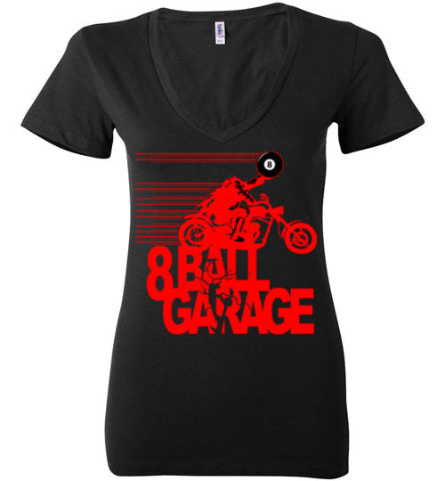 Ladies Headless Steel Horseman V-neck (red)