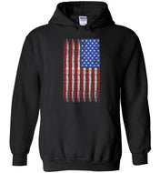American Flag with Pinup Hoodie