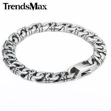 Stainless Steel 9.5mm Marina Biker Bracelet