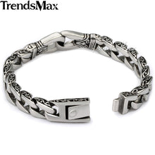 Stainless Steel Bracelet Curved Edging with Intricate Detail Along the outer edges