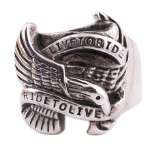 Stainless Steel Live To Ride Ring