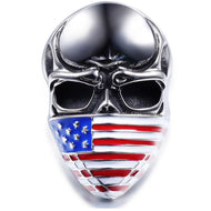 American Flag Masked Skull Ring for Men & Women