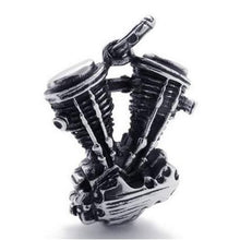 Stainless Steel V-Twin Panhead Engine Pendant