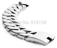 "8.46"" 180g Huge 316L Stainless Steel Cuban Link Bracelet"