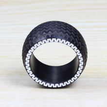 Stainless Steel Black Men's Tire Ring