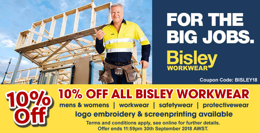 10% OFF ALL BISLEY WORKWEAR