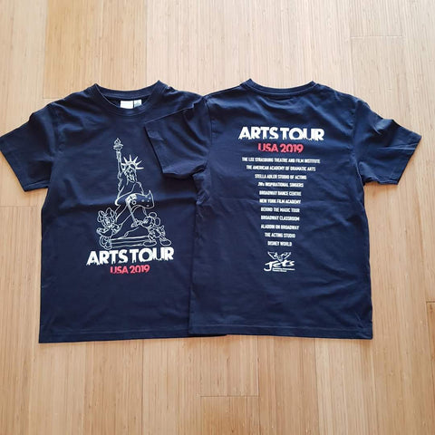 2 colour screen print to the front and rear of black JB's Wear Tees T-Shirts Uniforms