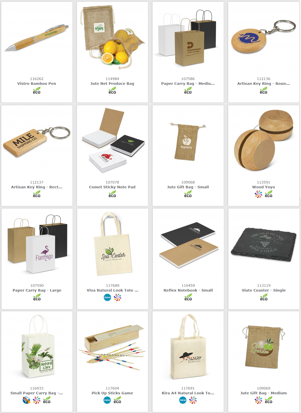 eco environmentally friendly promotional products