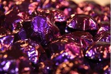 Chocolate Foiled Stars - Purple - in 500g Bag