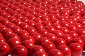 Choc Balls - Red - in 1KG Bag