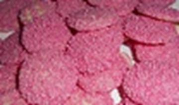 Pink Sparkles - White Choc Buds - in 1KG Bag