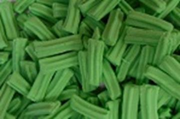 Mini Fruit Sticks - Green - in 1KG Bag