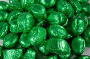 Chocolate Domes - Green Foil - in 1KG Bag