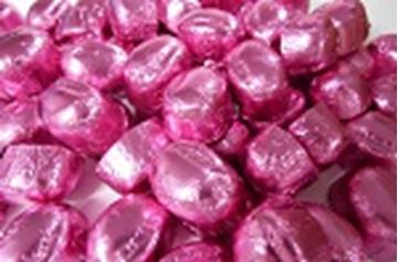 Chocolate Domes - Pink Foil - in 1KG Bag