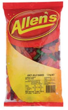 Allen's Juicy JellyBabies in 1.3KG Bag