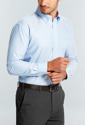 Mens Oxford Weave Shirt - Long Sleeve