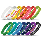 Silicone Wristbands - with 1 colour print