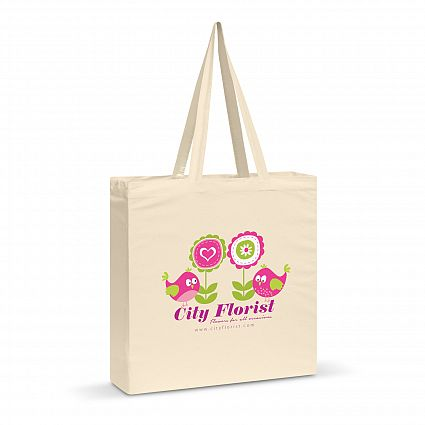 Carnaby Cotton Shoulder Tote - with 1 colour print