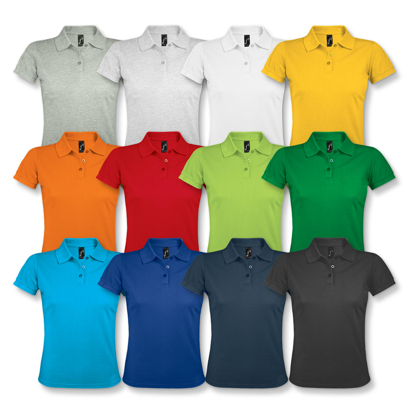 Trends Collection 118088 SOLS Prime Womens Polo Shirt (Including full colour logo) colours