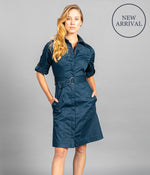 Gloweave 1894WD Sateen Belted Shirtdress Ladies