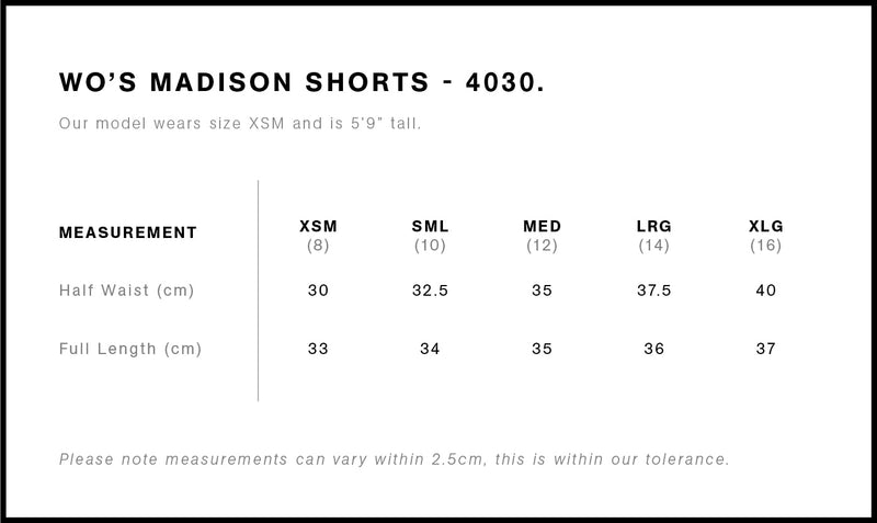 Madison Shorts Ladies