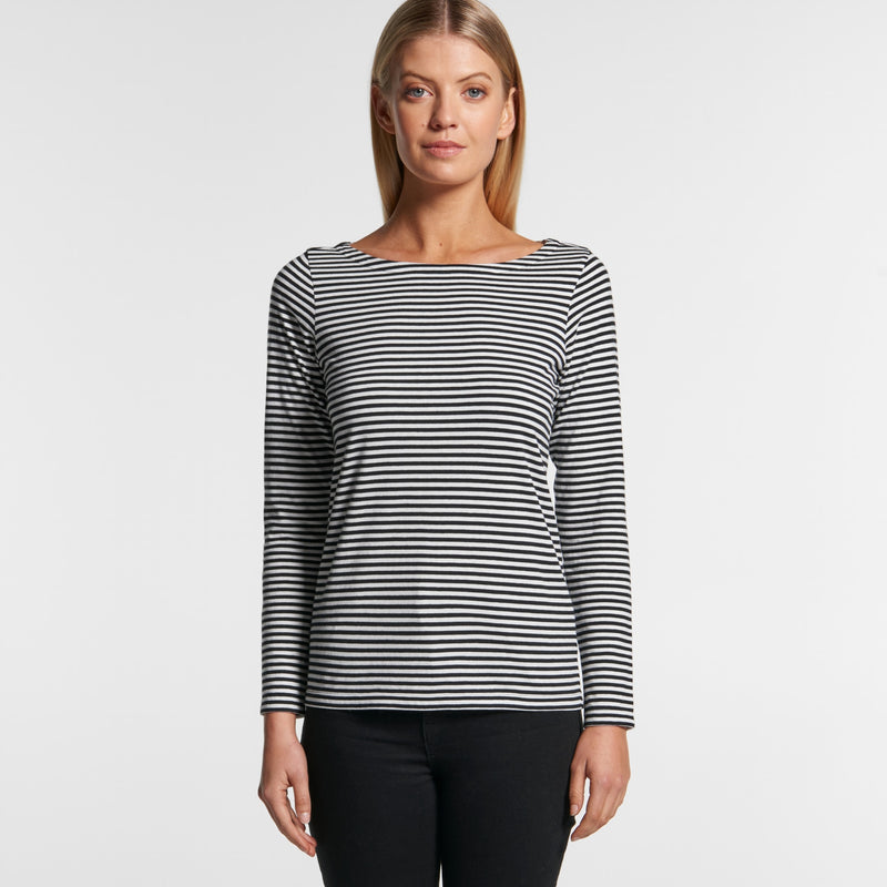 AS Colour 4061 Bowery Stripe Long Sleeve-front