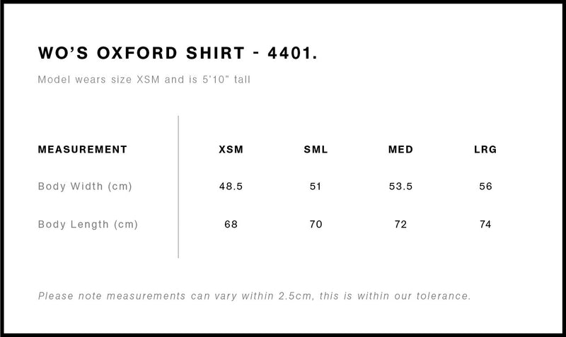 4401_OXFORD_SHIRT_size guide