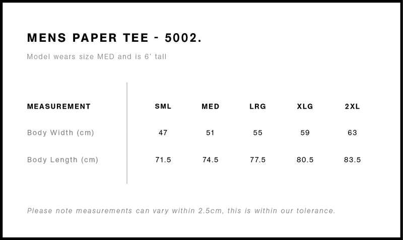 AS Colour 5002 Paper Tee Mens size