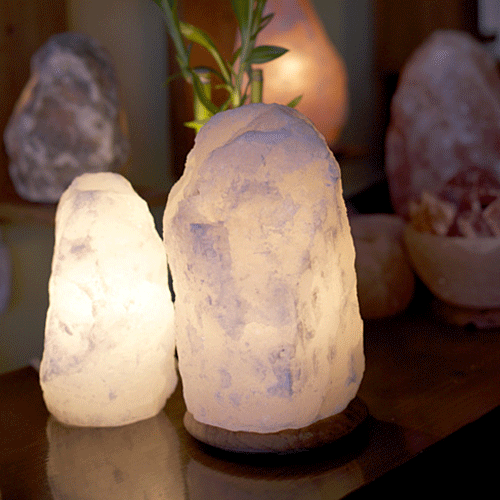 White Natural Himalayan Salt Lamps [Weight 4-6kg]
