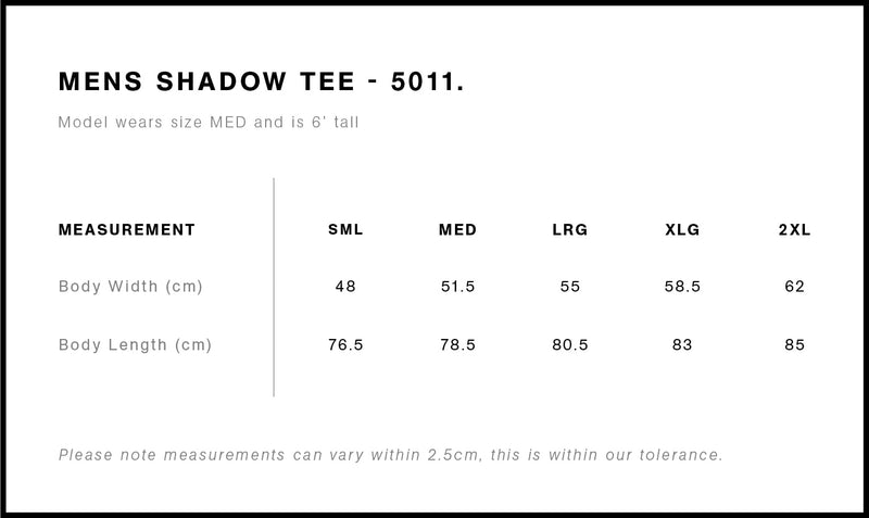 AS Colour 5011 Shadow Tee Mens size