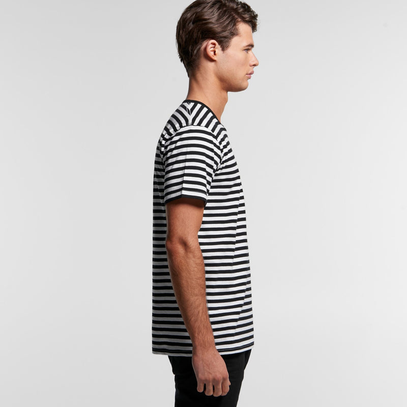 AS Colour 5028 Staple Stripe Tee Mens side