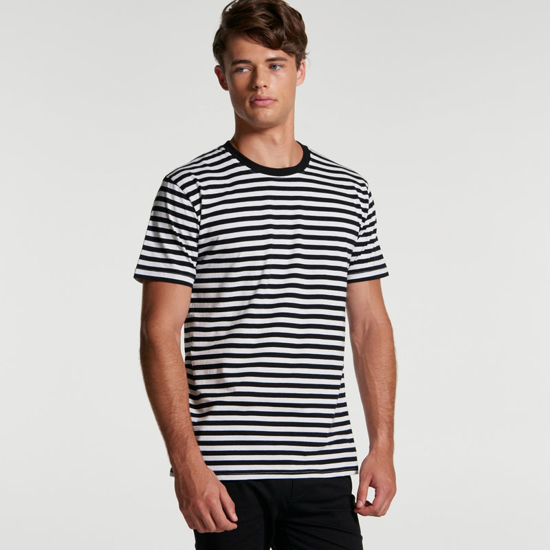 AS Colour 5028 Staple Stripe Tee Mens turn