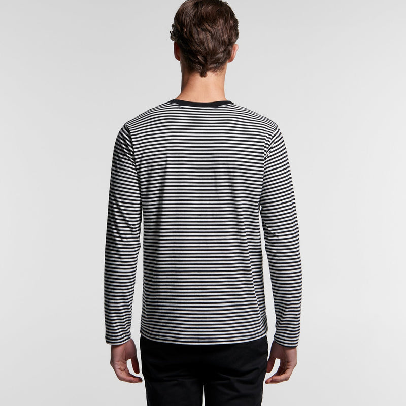 AS Colour 5061 Bowery Stripe Long Sleeve Tee Mens rear
