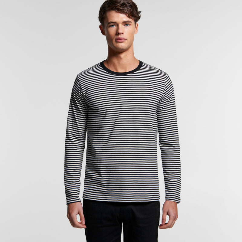 AS Colour 5061 Bowery Stripe Long Sleeve Tee Mens