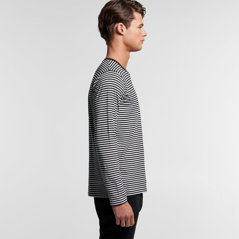 AS Colour 5061 Bowery Stripe Long Sleeve Tee Mens side