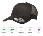 Flexfit Yupoong 6606Y Youth Classic Retro Wade Trucker