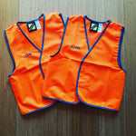 Personalised Kids Hi Vis Safety Vest - Embroidered with individual name on front