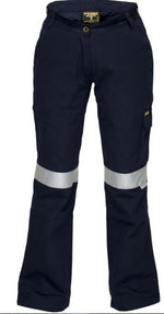 Cotton Drill Cargo Pants with 3M tape Ladies