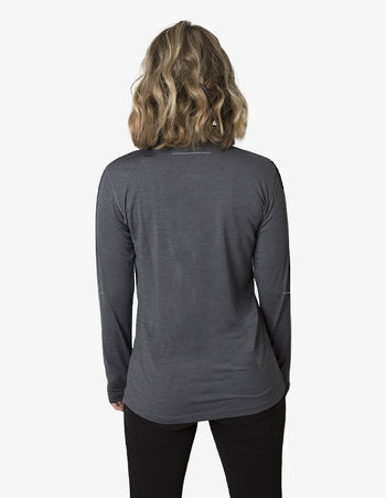 BKHZ450L 1/2 Zip Long Sleeve Heather Top Ladies 3