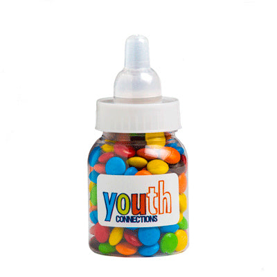 Baby Bottle Filled with Mini M&Ms - 45G