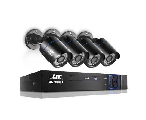 1080P Four Channel HDMI CCTV Security Camera Black (4)