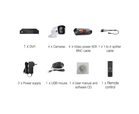 1080P Four Channel HDMI CCTV Security Camera (4)