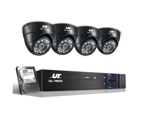 1080P Four Channel HDMI CCTV Security Camera (4) 1 TB