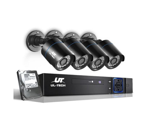 1080P Eight Channel HDMI CCTV Security Camera (4) 1TB